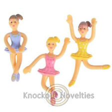 "Dozen 3"" Bendable Ballerina Favor Party Gift Bag Fillers Prize Prizes Assortment"