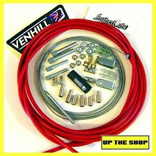 4 metre Red Venhill Universal Throttle Cable Kit car, rear engine, race, rally