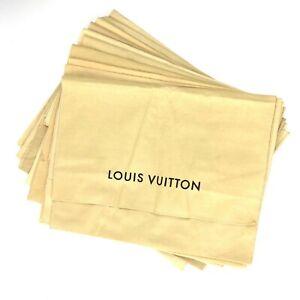 100% Authentic Louis Vuitton Set of 10 Dust Bag Brown Cotton [Used] {08-0397}
