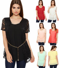 Plus Size Polyester Floral Sleeveless Tops & Blouses for Women