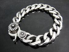 Japan Silver Classic Rolo Cowboy Bracelet for Harley Indian Motorcycle Biker 134