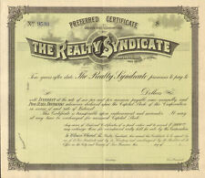 Realty Syndicate > San Francisco California real estate stock certificate