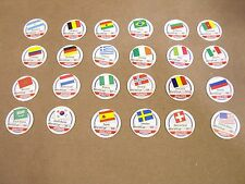 POG'S SOCCER  SET WORLD CUP COMPLETE SET OF 24 MIXED ADVANCED AND QUALIFIER