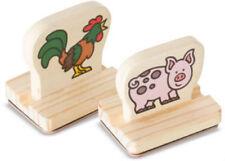 Melissa & Doug My First Farm Animals Wooden Stamp Set MND2390