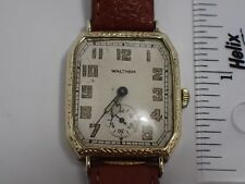 WALTHAM 1920`S-30`S Vintage Rare 14k Yellow Gold Case Wind Up Watch 17 jewels