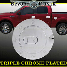 2009-14 FORD F150 F-150 Triple ABS Chrome Fuel Gas Door Cover Trim Overlay Caps