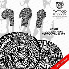 Maori Samoan Polynesian GOD WARRIOR Tattoo Stencil Template
