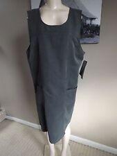 NWT! RELATIVITY Pearl Gray Jumper Sleeveless LYOCELL Body Drape Dress Size L