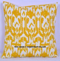Ethnic Indian Handmade Ikat Cushion Cover Thread kantha Work Throw Pillow Decor