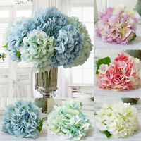 3/5 Bouquet Artificial Hydrangea Silk Bridal Bouquet Flowers Wedding Party Decor