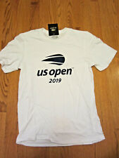 Us Open 2019 Tennis Official Logo Tee Shirt White Small Brand New w/Tags Bnwt Sm