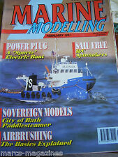 MODEL BOAT MARINE MODELLING FEBRUARY 1991 SEATRUCK ANDREW FULLER GERMAN E BOAT