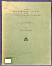 Vermont Magnetic Surveys of Ultramafic Bodies Windham Ludlow Dover Areas 1966