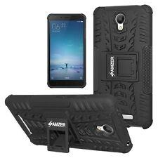 AMZER Rugged Dual Layer Hybrid Warrior Case For Xiaomi Redmi Note 2 Prime -Black