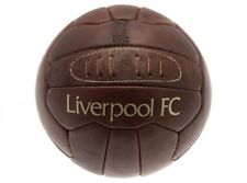 Liverpool Fc Retro Leather Laces Vintage Football Old School Size 5 Official