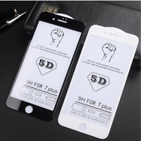 Full Coverage 5D Tempered Glass screen protector for iPhone 7/8 Plus X/Xs/xr/max