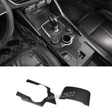 Real Carbon Fiber Center Console Panel Cover Trim For Alfa Romeo Giulia 2017-19