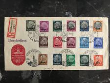 1941 Alsace Strassburg Germany Cover Comp Set Provisional Overprints