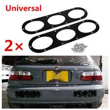 2Pcs Black Universal Aluminum Rear Bumper Race Air Diversion Diffuser Panel