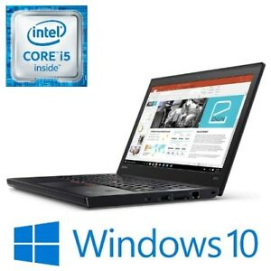 "Lenovo ThinkPad X270 Intel i5 7300U 8G 256G NVMe WiFi 12.5"" LED HDMI Win 10 Pro"
