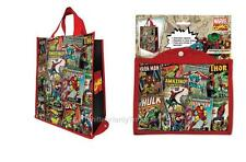 Marvel HEROES Official RETRO PACKABLE TOTE Shopping ECO BAG Reusable Gift Bag