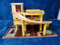 1970's Fisher Price Little People Parking Ramp Service Center Garage