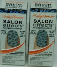 2 Box Sally Hansen Salon Effects Real Nail Polish Strips HEAR ME ROAR! #570 32ct