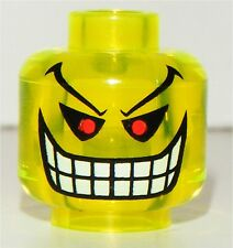 GENUINE - LEGO BATMAN JOKER BOMB MINIFIGURE HEAD PART X1 NEON YELLOW 7782 7888