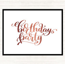 Rose Gold Birthday Party Quote Dinner Table Placemat