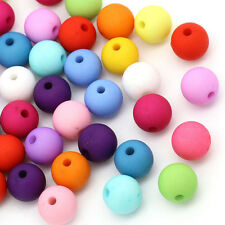 200 pcs Loose mixed color Matt acrylic spacer findings beads charms 8mm