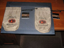 Tito's Handmade Vodka Burlap Brown Bag Pouch Bottle Cover up to 750ml .