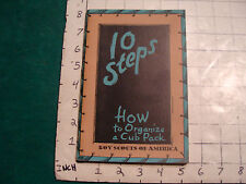Vintage Scout book: c. 1941 10 STEPS how to organizwe a cub pack, 120 pages.