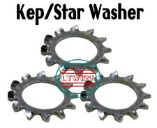 """(50) 7/16"""" External Tooth Star Steel Lock Washer Zinc Plated"""