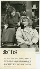 SUSAN SAINT JAMES JANE CURTAIN TALK ON COUCH KATE & ALLIE 1987 CBS TV PHOTO