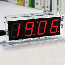 DIY 4 Digit LED Electronic Clock Kit Temperature Light Control Version