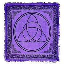 "18""x18"" Purple Triquetra Altar Cloth!"