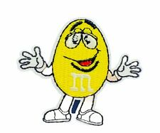 M&Ms Yellow advertising candy patch sew on jacket emblem logo collectible vtg 2