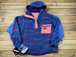 NWT NOS VTG 90's 1990 Nike Aqua Gear 1/4 Zip Reversible Pullover Jacket S Neon