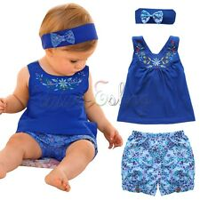 Toddler Baby Girl Outfit Headband+Top Vest + Pants Kid Clothes Dress Up 18-24M
