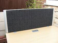 More details for desk divider panels desk shield office desktop partition privacy screen 1m black