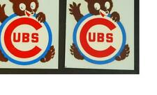 (2) Vintage 1950's Chicago Cubs Window Decal J.G. Barron Chicago