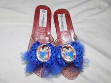 Disney Store Princess SNOW WHITE Costume Dress Up Shoes Jelly Girls 11/12 NEW