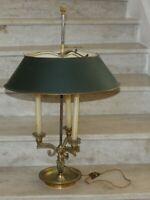 grande lampe bouillotte (57 cm)  bronze dorée et tole