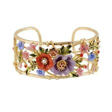LES NEREIDES WINTER GARDEN FLOWERS BOUQUET BANGLE BRACELET