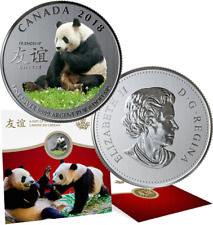 2018 Panda Peaceful Friendship Gift $8 Pure Silver Coin Canada