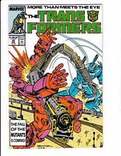 TRANSFORMERS #35 (NM-) Grimlock & the Dinobots Appearance! Frank Springer Cover