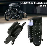 Motorcycle Right Side Saddlebag Guard Bag For Harley Touring Road King Glide