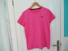 Mens Pink Crew Neck T Shirt - Hollister - Size Small