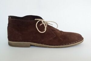 Men's Chukka Boots Shoes Brown Suede Size 11