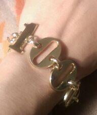 Authentic 1969 Vtg Christian Dior Gold Tone One Million Toggle Clasp Bracelet
